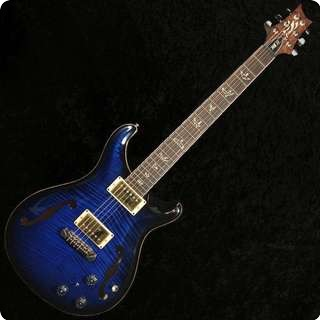 Prs Hollowbody Ii 25th Anniversary 10 Top/back Flame Sapphire Smokeburst   Sold