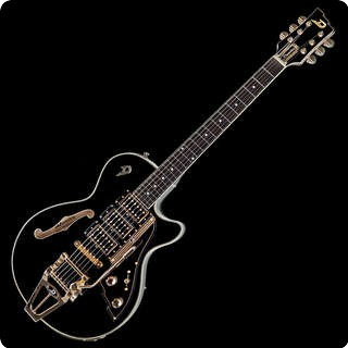 Duesenberg Starplayer Tv Custom Semi Hollow Black With Ohsc