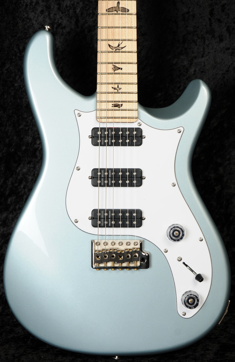 prs nf3 electric guitar korina body maple neck frost blue metallic birds. Black Bedroom Furniture Sets. Home Design Ideas