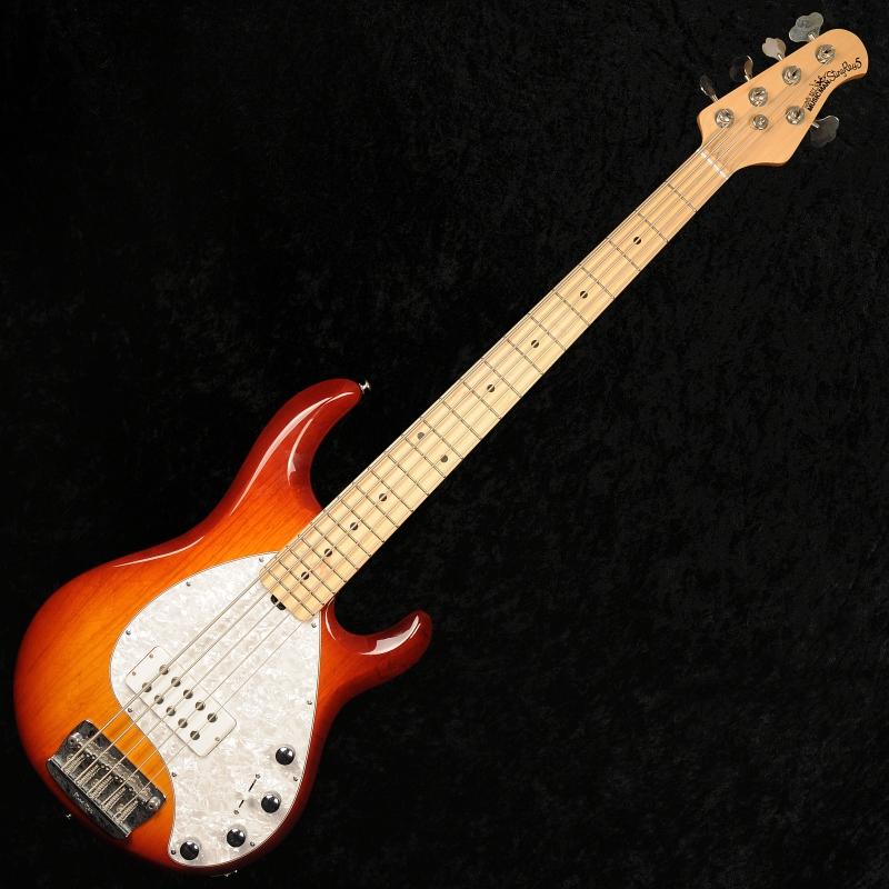 ernie ball music man stingray 5 active 5 string bass guitar with hard case honeyburst. Black Bedroom Furniture Sets. Home Design Ideas