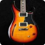 PRS SE Custom Semi Hollow Electric Guitar Tri colour Sunburst With Gigbag
