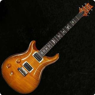 Prs Custom 22 'lefty' Ltd 2011 10 Top Amber Black V12 Finish Wide Fat 59/09