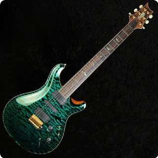 Prs 513 Private Stock No. 3373 Quilt Top Blue/green Rosewood Neck Electric Guitar