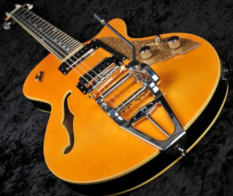 duesenberg starplayer tv semi hollow electric guitar trans orange with case sold. Black Bedroom Furniture Sets. Home Design Ideas