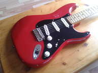 Rancourt Guitars Custom ST Dakota Red 2010 Natural Wears Relic Nitrocellulose Dakota Red