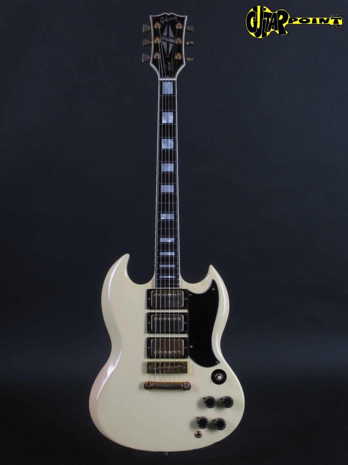 Rare Electric Guitars >> Gibson SG Custom 1974 White Guitar For Sale GuitarPoint
