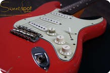 Fender 1960 Stratocaster Custom Shop Strat 60 Relic Fiesta Red CS 60 1999 1999 Fiesta Red