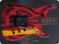 Jackson Dinky Graphic 1988 Graphic On Red Snakeskin Brush