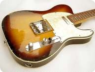 Fender Telecaster Custom Built 1966 Two Tone Sunbrust