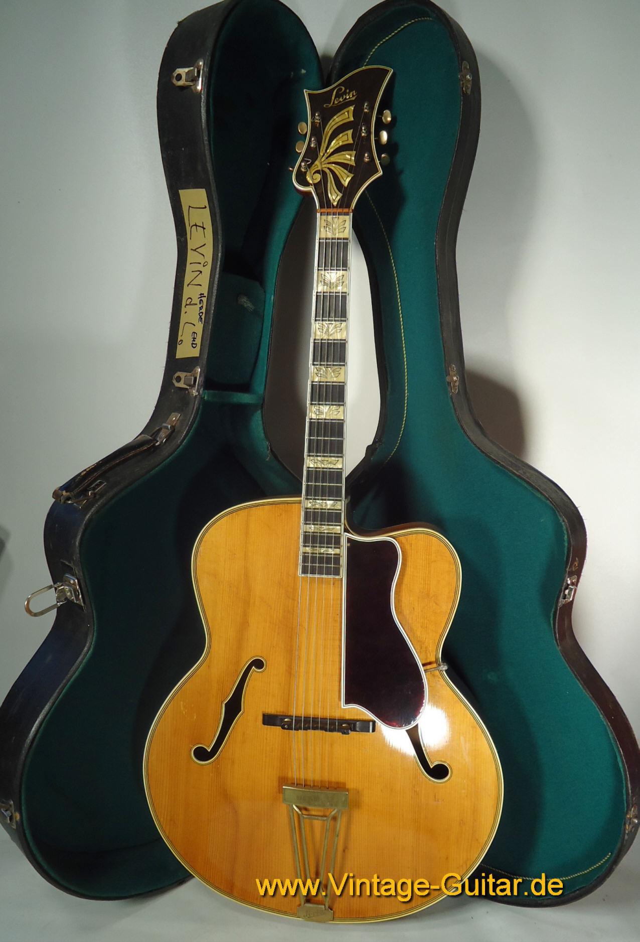 levin de luxe 1949 natural guitar for sale vintage guitar oldenburg