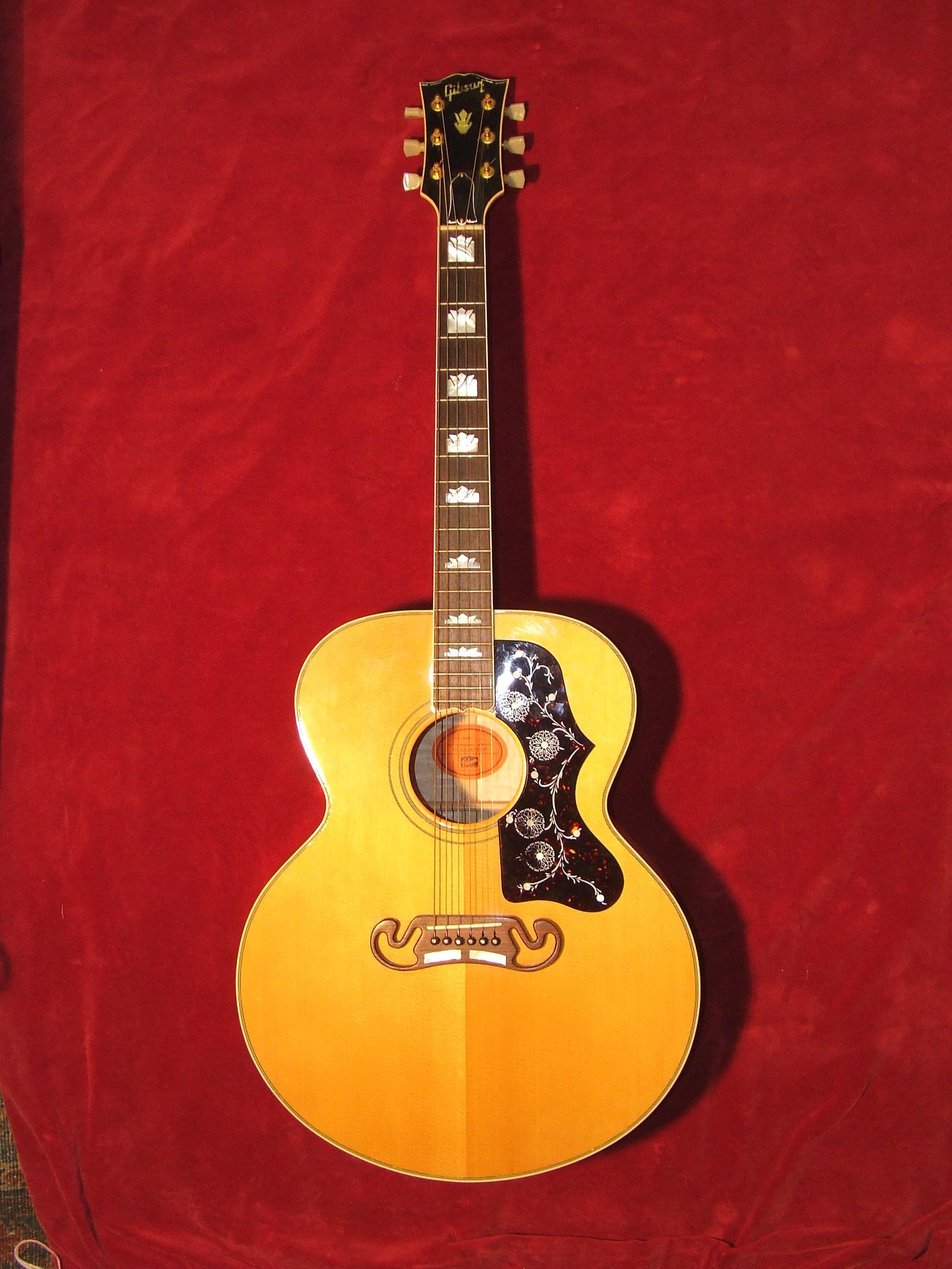 gibson j200 1995 natural guitar for sale old hat guitars. Black Bedroom Furniture Sets. Home Design Ideas