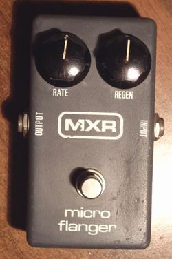 mxr micro flanger 1981 effect pedal for sale hendrix guitars. Black Bedroom Furniture Sets. Home Design Ideas