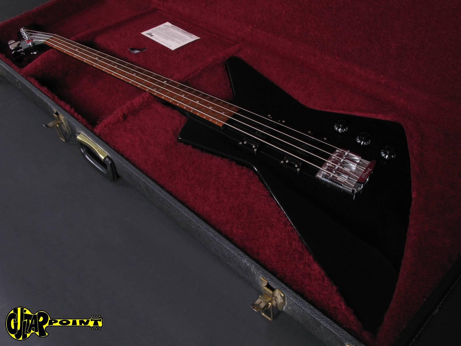 gibson explorer 1985 ebony black bass for sale guitarpoint. Black Bedroom Furniture Sets. Home Design Ideas