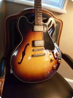 gibson es 335 1958 sunburst guitar for sale ok guitars. Black Bedroom Furniture Sets. Home Design Ideas