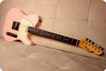 LsL Lance Lerman Guitars T Bone Double Bound Pink Shell
