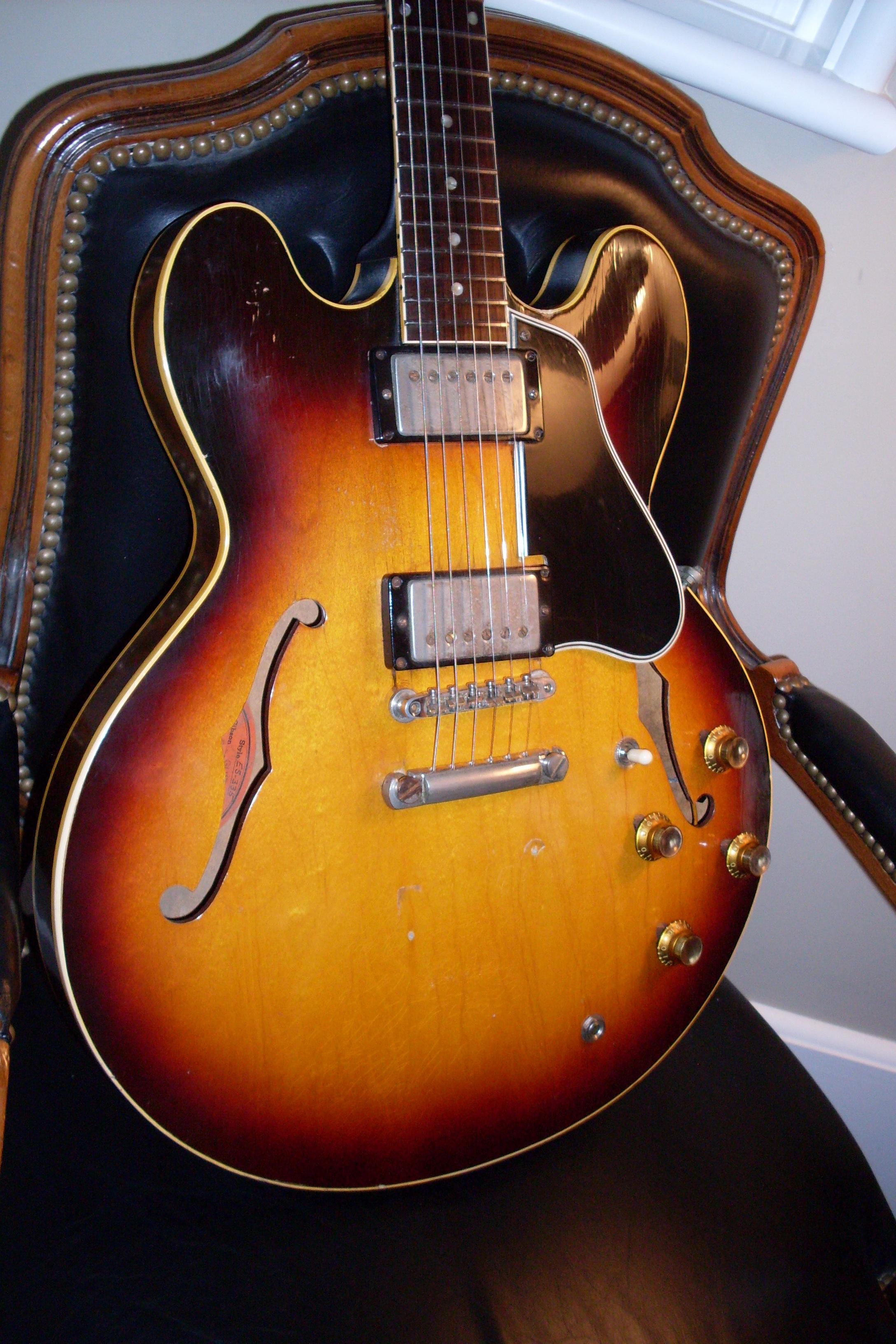 gibson es 335 1961 sunburst guitar for sale ok guitars. Black Bedroom Furniture Sets. Home Design Ideas