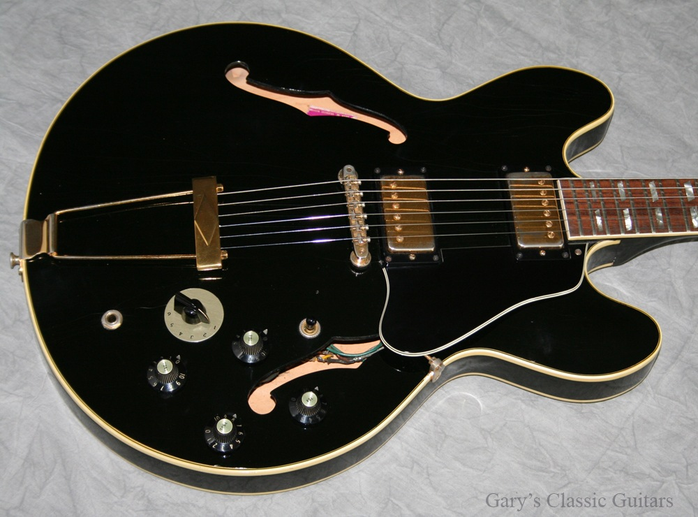 gibson es 345 1973 black guitar for sale garys classic guitars. Black Bedroom Furniture Sets. Home Design Ideas