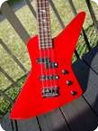B.C Rich Explorer Bass Prototype 1984 Bright Red
