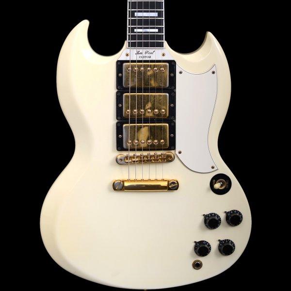gibson les paul sg custom reissue 1991 ivory guitar for sale tone world. Black Bedroom Furniture Sets. Home Design Ideas