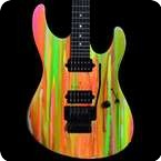 Suhr Limited Edition 80s Shred Modern Neon Drip