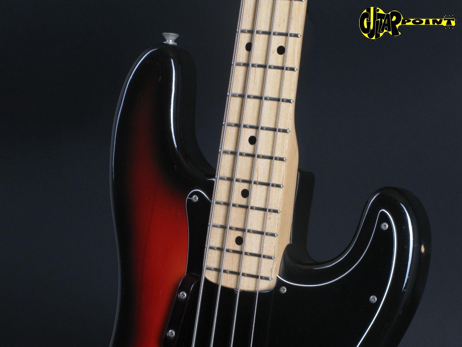 fender precision p bass 1975 3 tone sunburst bass for sale guitarpoint. Black Bedroom Furniture Sets. Home Design Ideas