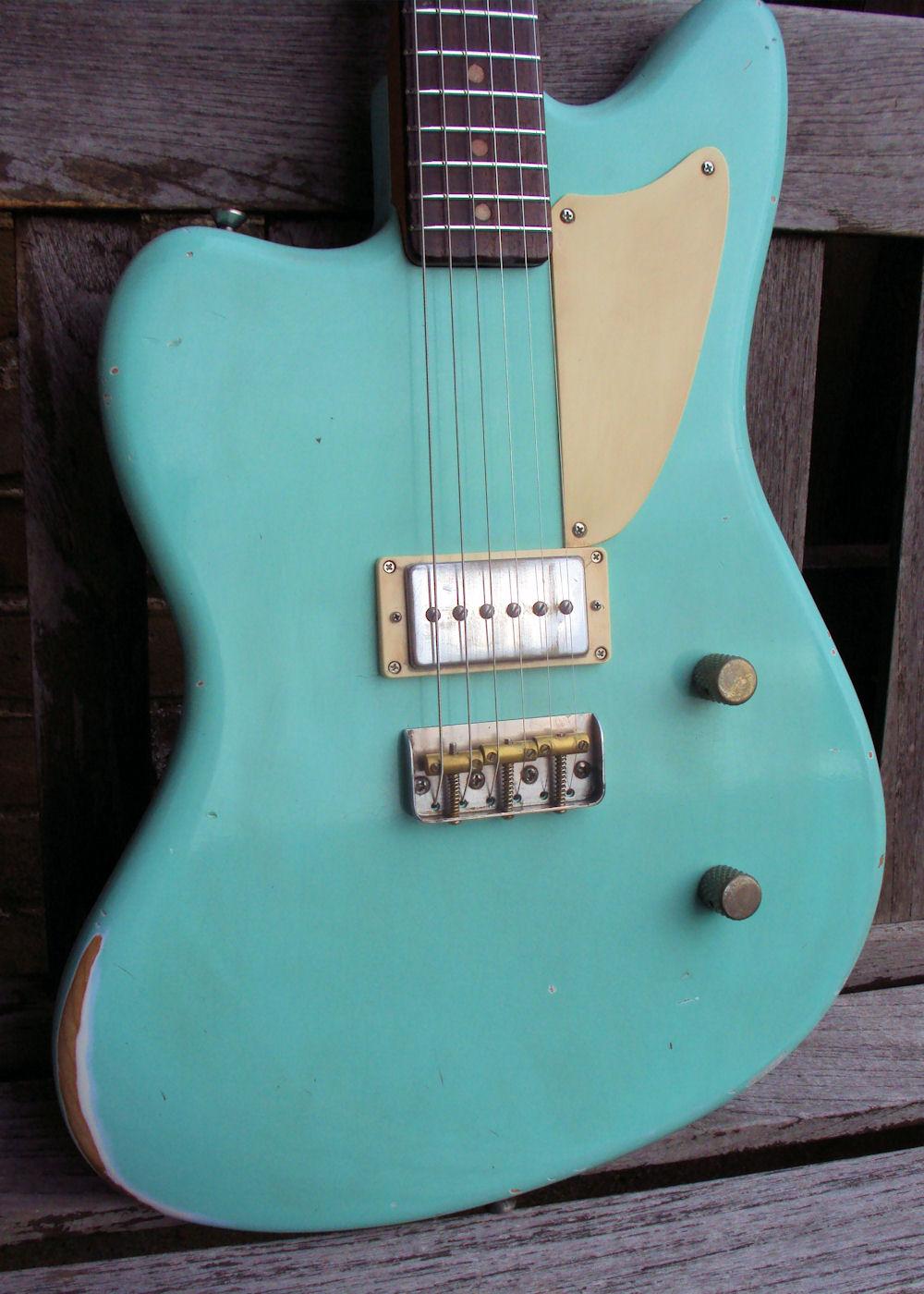 eternal guitars j type wilf made to order 1950 39 s surf green guitar for sale eternal guitars. Black Bedroom Furniture Sets. Home Design Ideas