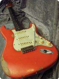 Fender Stratocaster 1970 Fiesta Red Guitar For Sale Plektrum