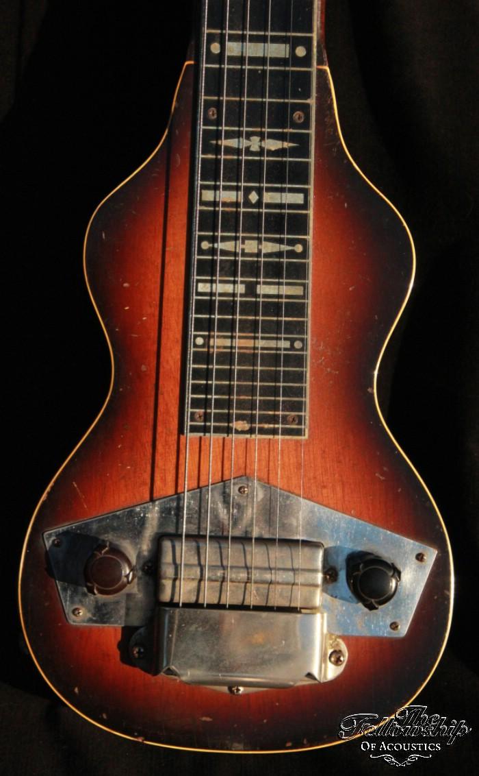 gibson eh 125 lap steel sunburst original fancy case 1940 guitar for sale the fellowship of. Black Bedroom Furniture Sets. Home Design Ideas