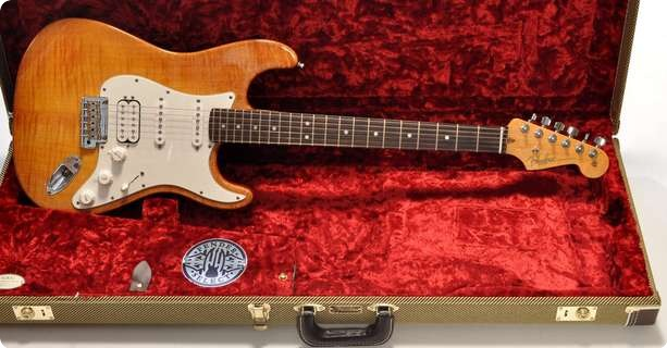 Fender Select Select Hss Stratocaster 2011 Antique Burst