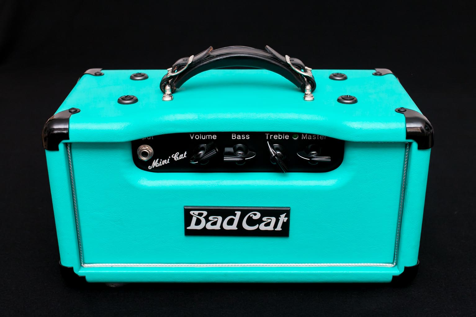 bad cat mini cat 2000 turquoise amp for sale bigfoot guitars. Black Bedroom Furniture Sets. Home Design Ideas