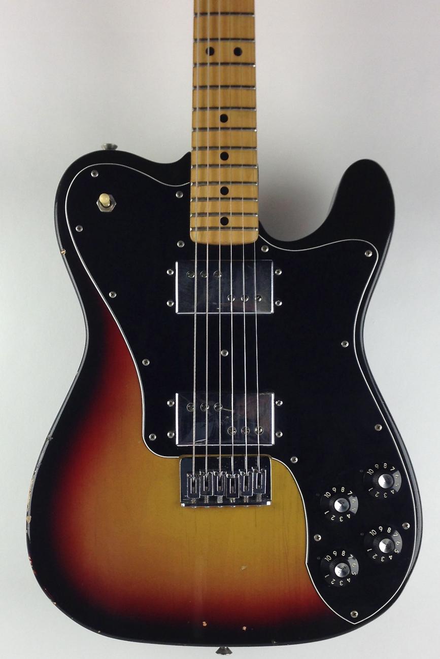 fender telecaster deluxe 1974 sunburst guitar for sale thunder road guitars. Black Bedroom Furniture Sets. Home Design Ideas