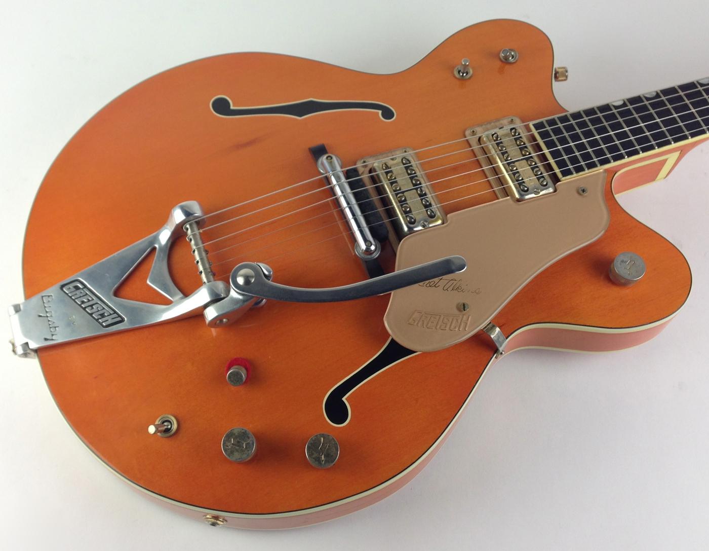 gretsch 6120 chet atkins 1962 orange satin guitar for sale thunder road guitars. Black Bedroom Furniture Sets. Home Design Ideas