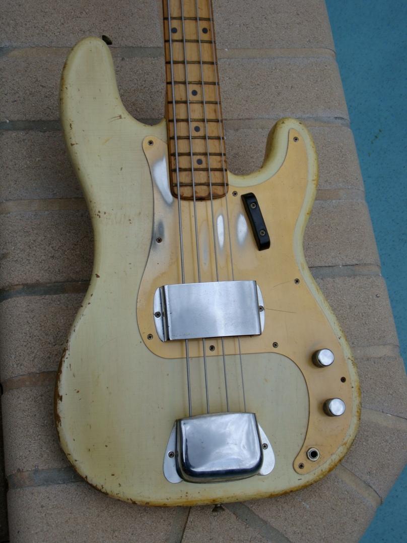 fender precision bass 1957 see thru blonde bass for sale guitarbroker. Black Bedroom Furniture Sets. Home Design Ideas