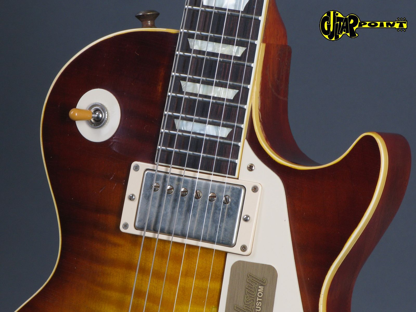 gibson les paul 1959 joe perry aged signed 2013 faded tobacco sunburst guitar for sale guitarpoint. Black Bedroom Furniture Sets. Home Design Ideas
