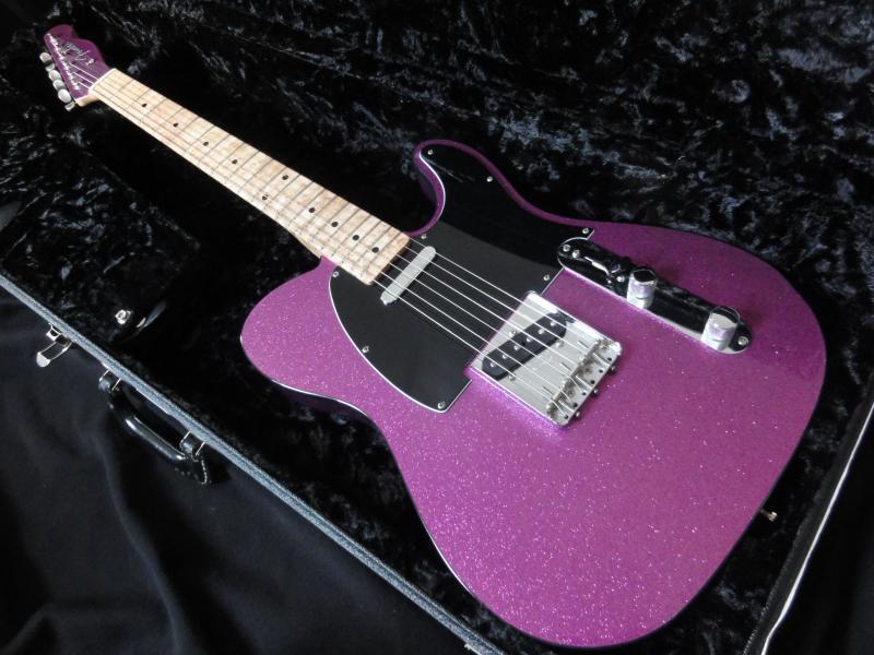 fender telecaster custom shop 2002 purple sparkle guitar for sale rjv guitars. Black Bedroom Furniture Sets. Home Design Ideas