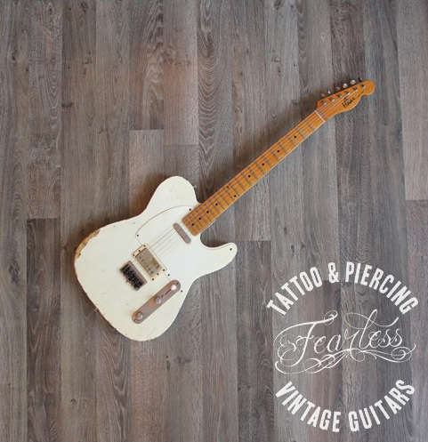 haar guitars custom built telecaster 2010 39 s olympic white guitar for sale fearless tattoo and. Black Bedroom Furniture Sets. Home Design Ideas