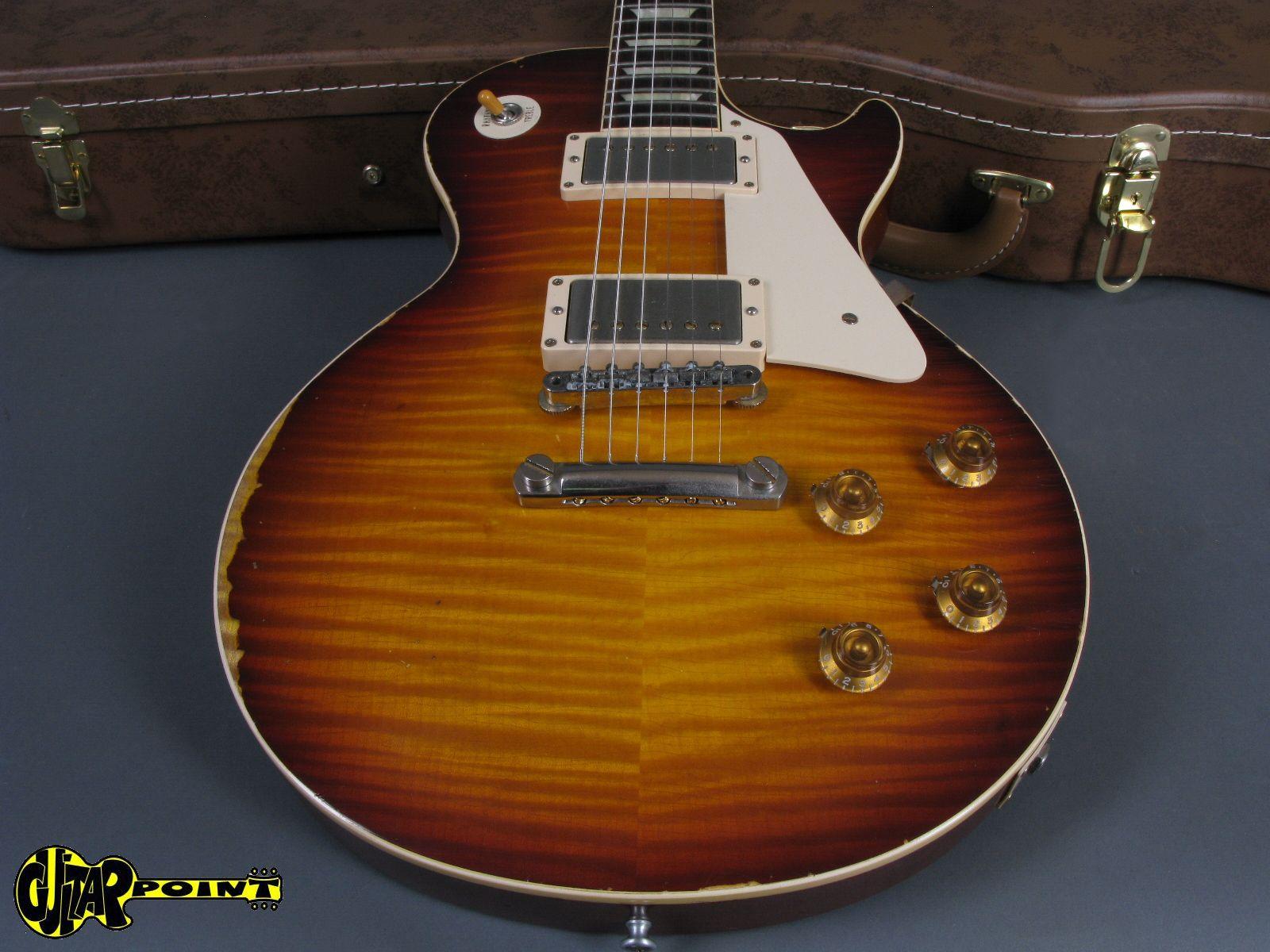 gibson 1959 les paul reissue heavy aged 2013 texas burst guitar for sale guitarpoint. Black Bedroom Furniture Sets. Home Design Ideas
