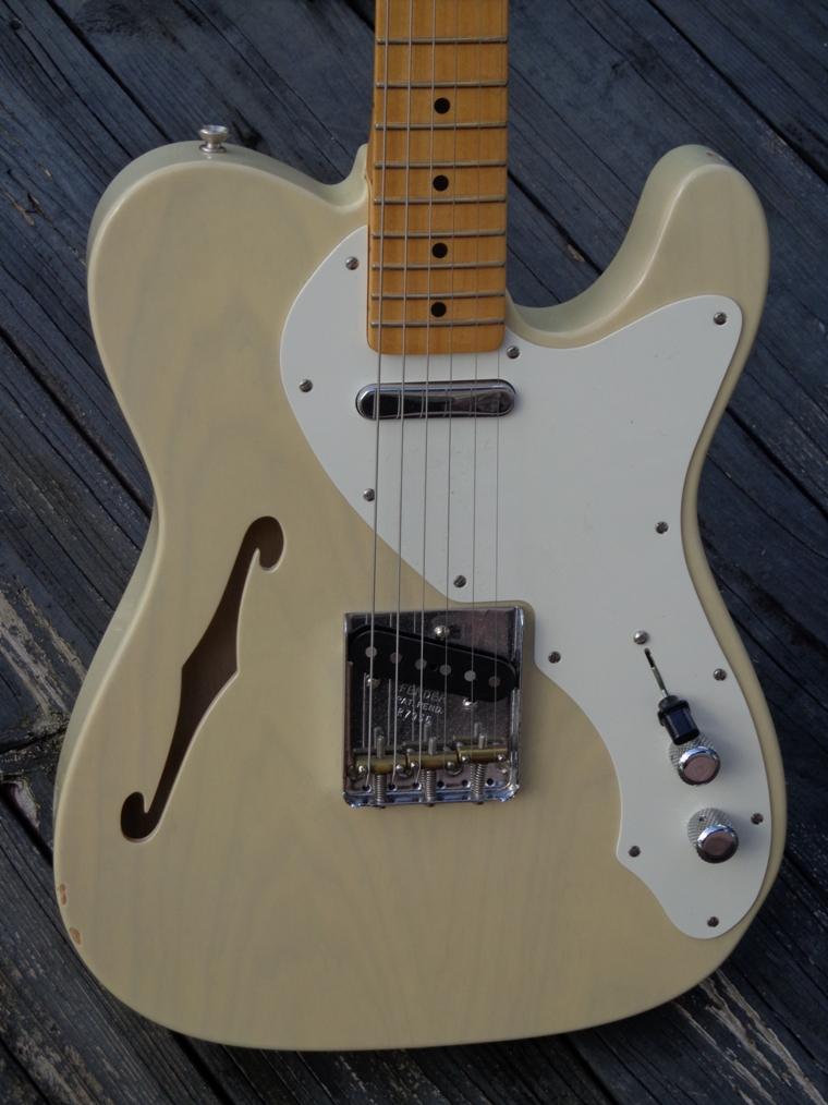 fender telecaster thinline custom shop 2009 see thru blonde guitar for sale guitarbroker. Black Bedroom Furniture Sets. Home Design Ideas