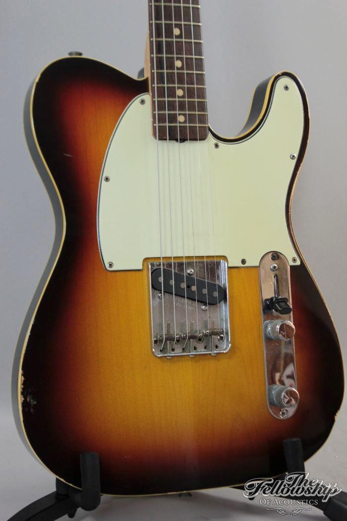 fender custom esquire sunburst guitar used for johnny cash recordings 1961 guitar for sale the. Black Bedroom Furniture Sets. Home Design Ideas