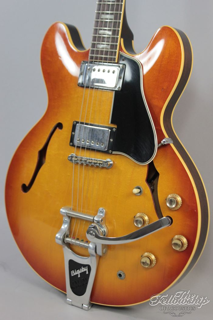 gibson es 335 td bigsby cherry sunburst 1966 guitar for sale the fellowship of acoustics. Black Bedroom Furniture Sets. Home Design Ideas