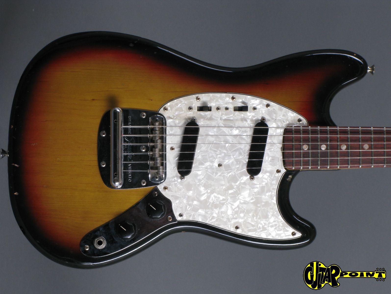 fender mustang 1972 3 tone sunburst guitar for sale guitarpoint. Black Bedroom Furniture Sets. Home Design Ideas