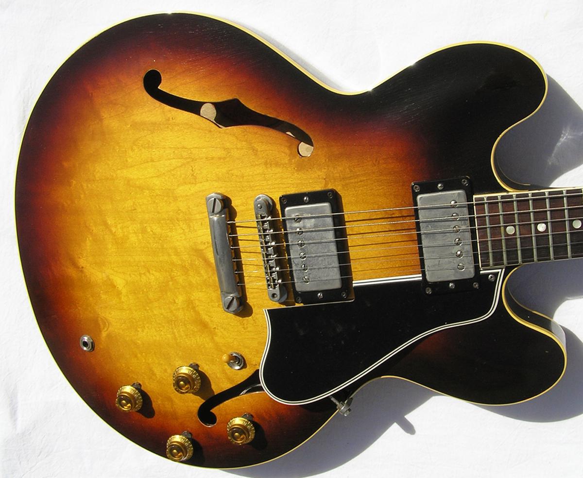 gibson es 335 1959 sunburst guitar for sale spc guitars. Black Bedroom Furniture Sets. Home Design Ideas