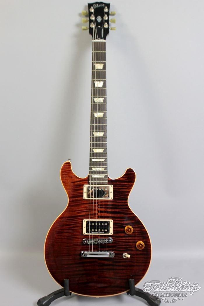 gibson les paul dc double cut flame aaa top 2007 guitar for sale the fellowship of acoustics. Black Bedroom Furniture Sets. Home Design Ideas