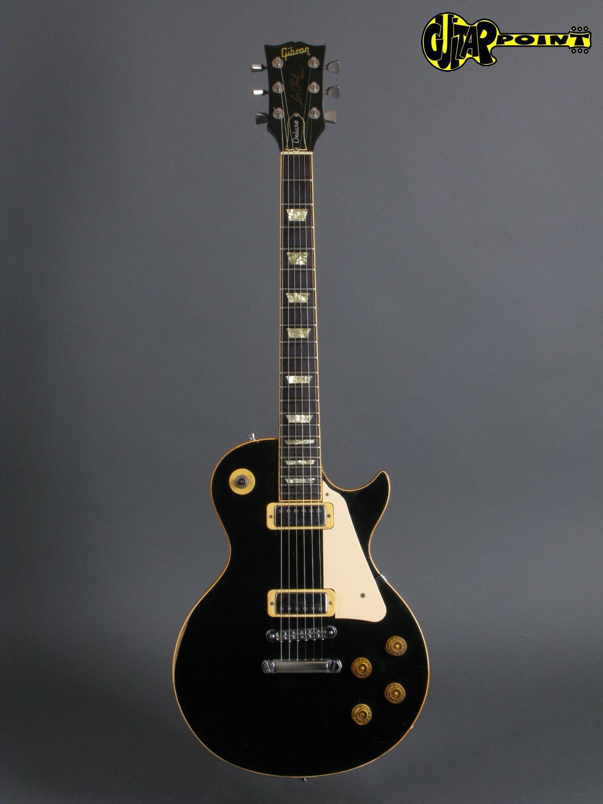 gibson les paul deluxe 1981 ebony black guitar for sale guitarpoint. Black Bedroom Furniture Sets. Home Design Ideas