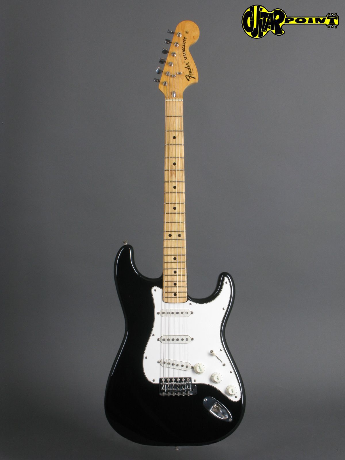 Fender Stratocaster 1974 Black Guitar For Sale Guitarpoint