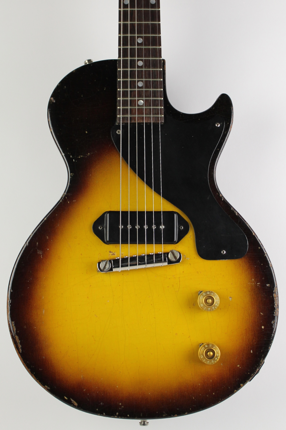 gibson les paul junior 1957 sunburst guitar for sale thunder road guitars. Black Bedroom Furniture Sets. Home Design Ideas