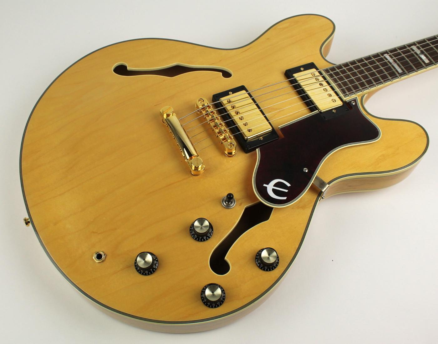 epiphone sheraton 1999 natural guitar for sale thunder road guitars. Black Bedroom Furniture Sets. Home Design Ideas