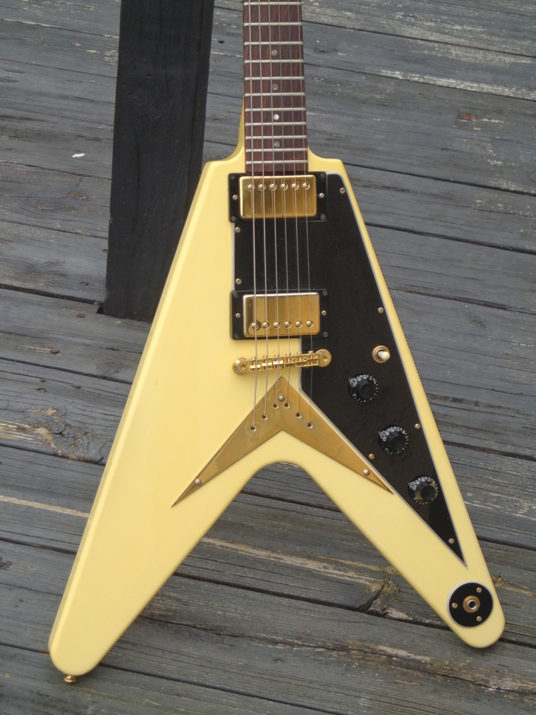 gibson flying v 39 58 reissue 1983 white finish. Black Bedroom Furniture Sets. Home Design Ideas