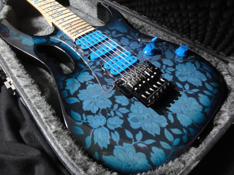 ibanez ibanez jem 77 bfp 1991 blue floral pattern guitar for sale rjv guitars. Black Bedroom Furniture Sets. Home Design Ideas