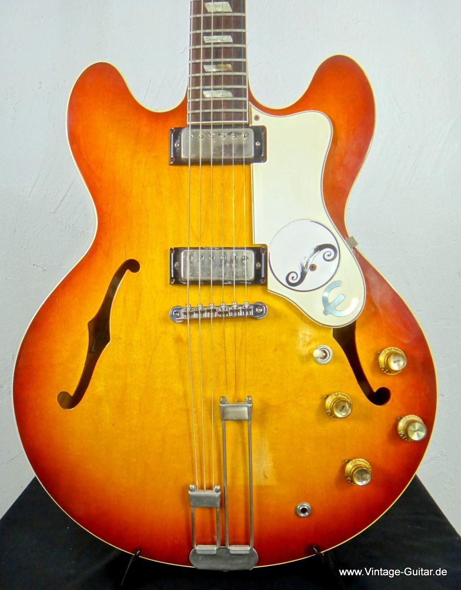 epiphone riviera 1965 sunburst guitar for sale vintage guitar oldenburg. Black Bedroom Furniture Sets. Home Design Ideas